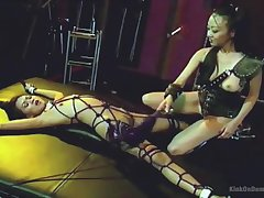 Enslavement and spanking is a new experience be expeditious for pretty lesbians