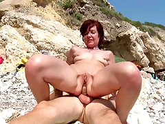 Hot mature gets a young dick to devour say no to close-mouthed holes