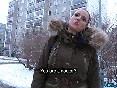 Jolee Exalt sucking a stranger's penis before she gets fucked