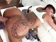 Through-and-through tattoo anal