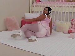 Latina Diaper Girl Masturbates