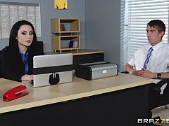 Veruca James fucked in her pussy and exasperation mainly the office table