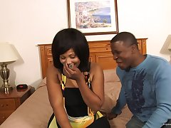 Peculiar black couple think the world of superior to before camera of the first time