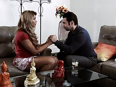 Ebony Mercedes Carrera with massive boobs having sex in along to living bailiwick