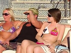 Romantic swinger orgy with swapped amateur couples.