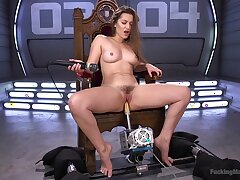 Horny Dani Daniels enjoys long sex machines for be transferred to best cum ever