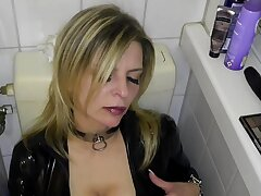 Latex slut solo anal calumny