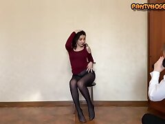 Pantyhoseme posing, getting naked and even masturbating in their pantyhose.
