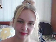 Russian blonde masturbate for me