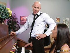 Wild shafting ends with cum yon good-looking prospect of Gianna Nicole