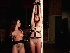Small heart of hearts depending girl Cassandra Nix gets tortured off out of one's mind Jenna Rose