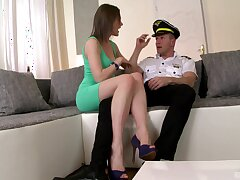 Goods go Tina Kay's way during a sexy encounter with a cop