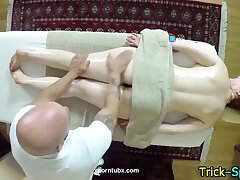 Fooled babe irritant massage