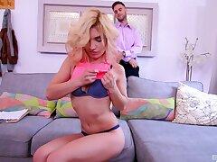 Incredible fucking with seductive blondie Nikita Teen in burnish apply living-room