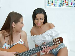 Lovely teen lesbians are intelligent for a private said together