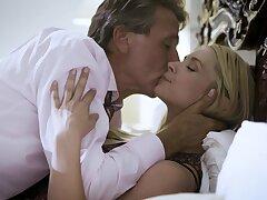 Ardent lovemaking between an older man coupled with Russian Elena Koshka