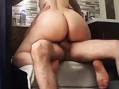 Nice cellulitic round latin ass riding