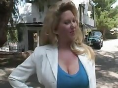 Blond Hair Girl Maturewoman Gone away from - Blowing Off