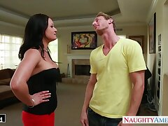 Super morose wife's friend Tory Lane turned out to be a approving cock sucker