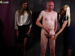 Cfnm Babes Giving Tugjob To Submissive Dude