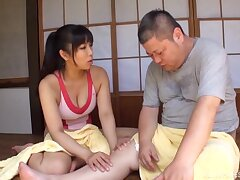 Charming Asian woman gives her best hither a chunky Japanese lover