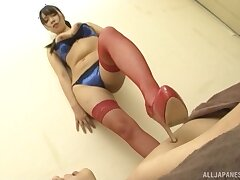 Impassioned Japanese in hot lingerie, exclusive cam fetishes