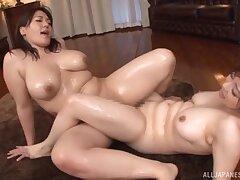 Japanese infant An Mitsuki enjoys having lesbian sex surrounding say no to friend
