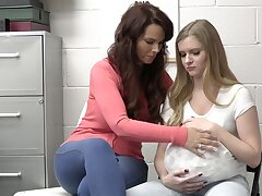 Mature chick Syren De Mer and younger Harlow West get fucked good