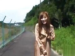 Swingeing exotic Chika Eiro is gently touching her cave era
