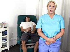 Sensuous, blondie nurse is using unceasingly disaster in get screwed, even supposing she is elbow work