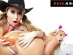 EvilAngel - Big Ass Lesbians Essay Kinky Ass & Food Play Fuck