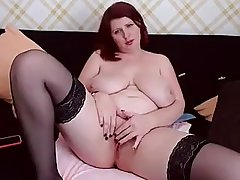 Redhead Mommy With reference to Big Ass And Boobs Hot Desolate Session