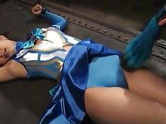 Female warrior-tickle first