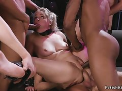Interracial gangbang sodomized bdsm making out
