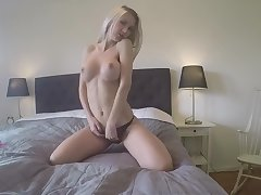 Blonde nasty girlfriend getting their way tiny pussy fucked off out of one's mind boyfriends friend