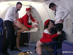 Alexis Crystal increased by Misha Cross are VIP stewardesses who were hired to do everything to please dudes