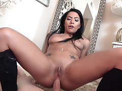 Morgan Lee gets her big ass fucked by a hunk stud