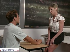 Big tittied teacher Dee Williams bangs one of the brush favorite students